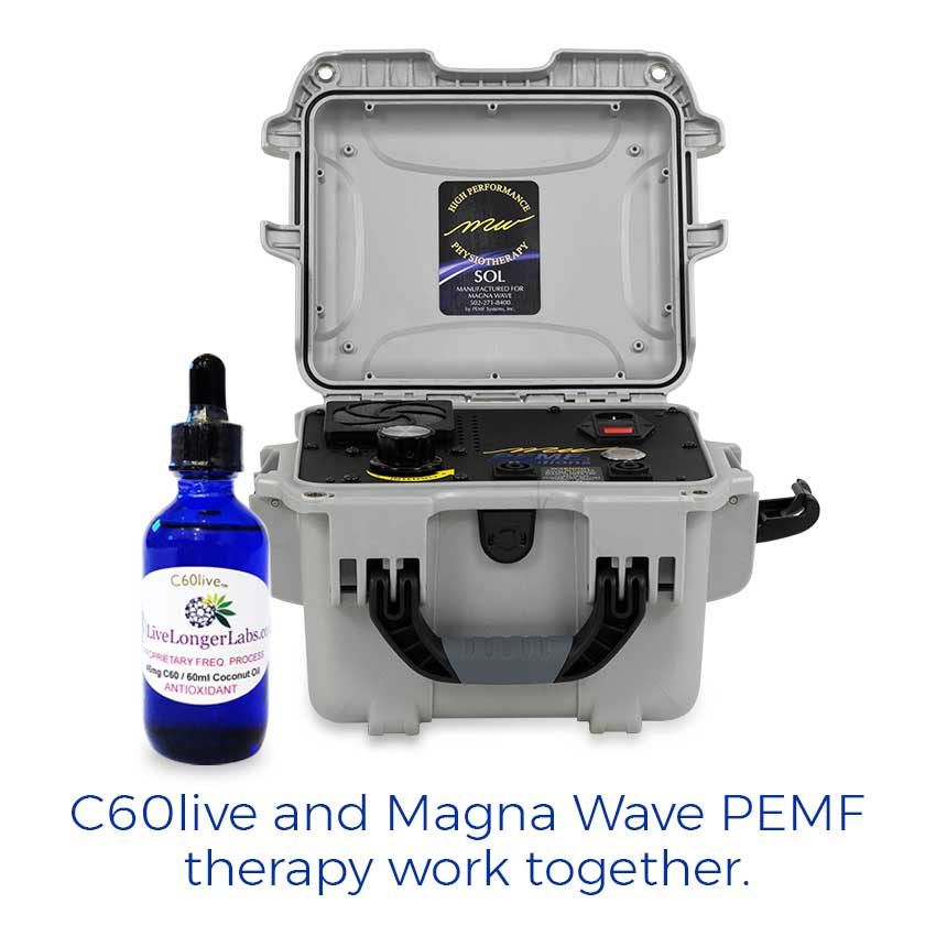 C60live and Magna Wave PEMF therapy work together.