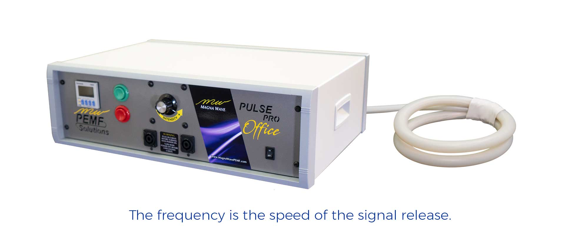 The frequency is the speed of the signal release.