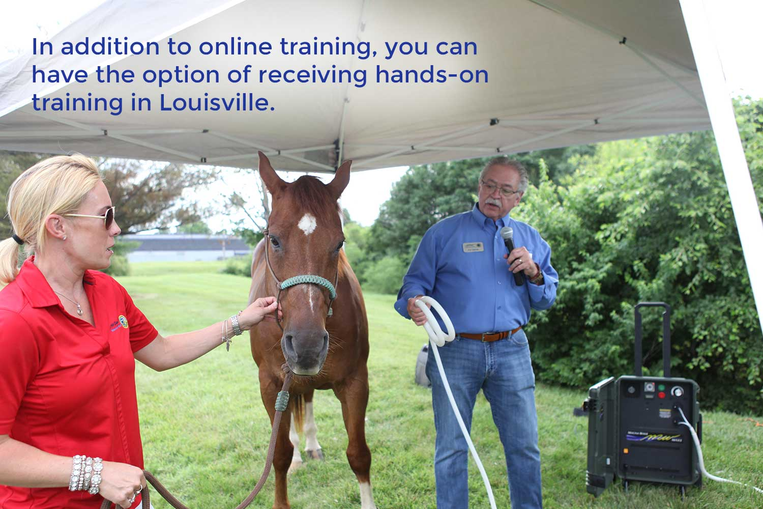 In addition to online training, you can have the option of receiving hands-on training in Louisville