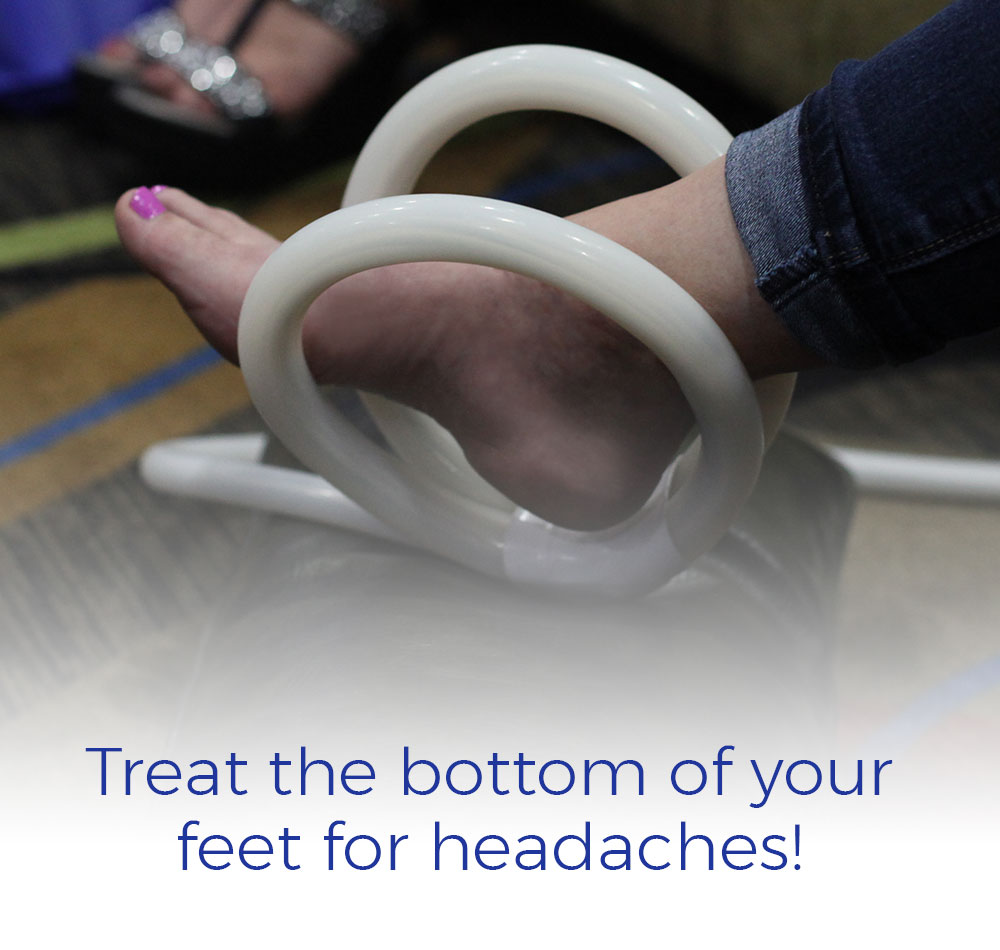 Treat the bottom of your feet for headaches!