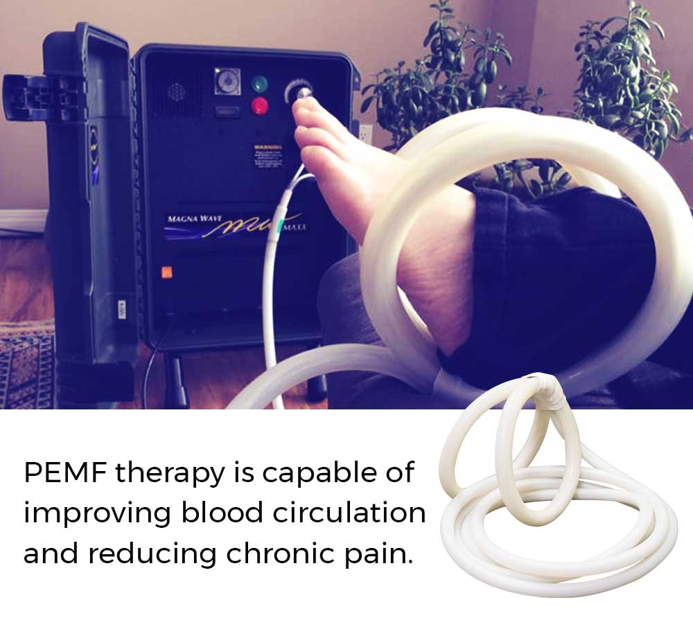 PEMF therapy is capable of improving blood circulation and reducing chronic pain.