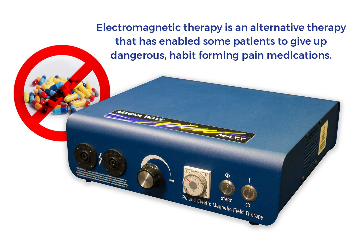 Electromagnetic therapy is an alternative therapy that has enabled some patients to give up dangerous, habit forming pain medications.