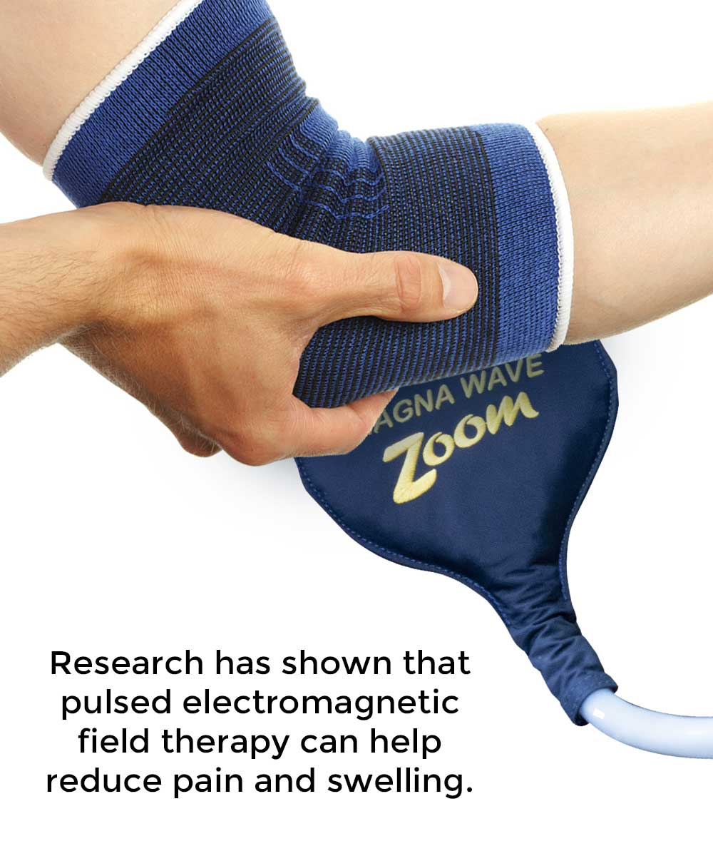 Research has shown that pulsed electromagnetic field therapy can help reduce pain and swelling.