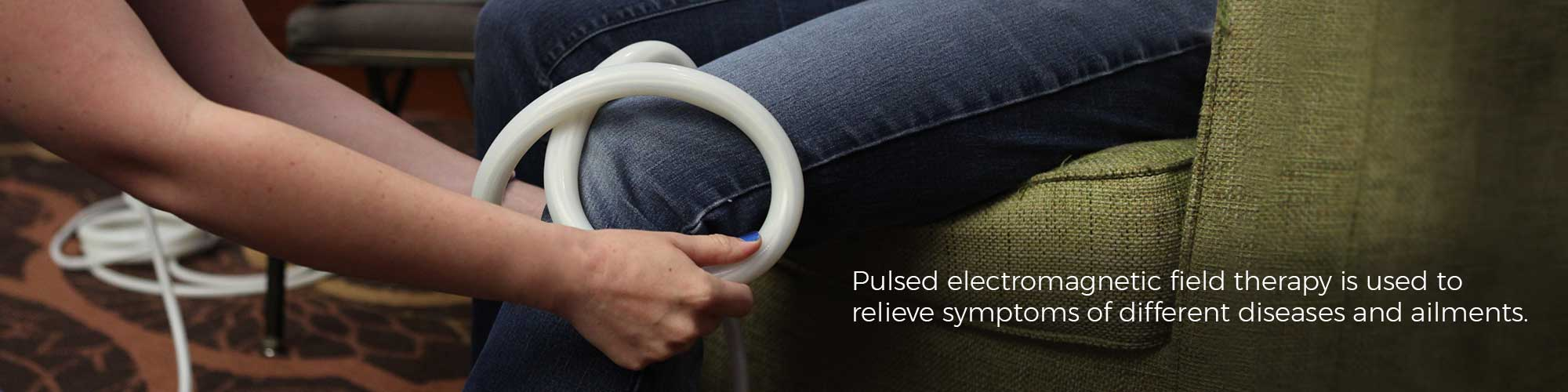 Pulsed electromagnetic field therapy is used to relieve symptoms of different diseases and ailments.