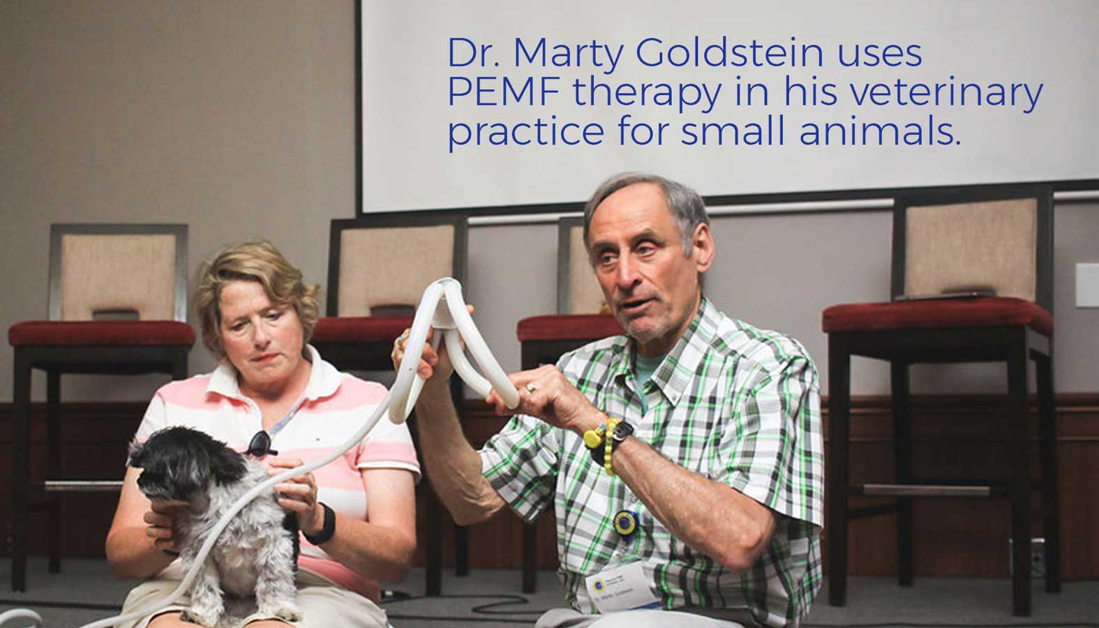 Dr. Marty Goldstein uses PEMF therapy in his veterinary practice for small animals.