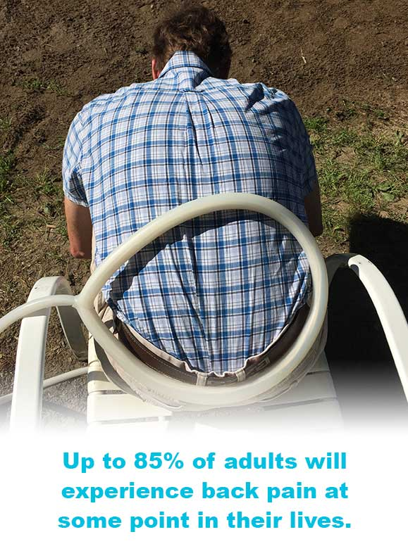 Up to 85% of adults will experience back pain at some point in their lives.