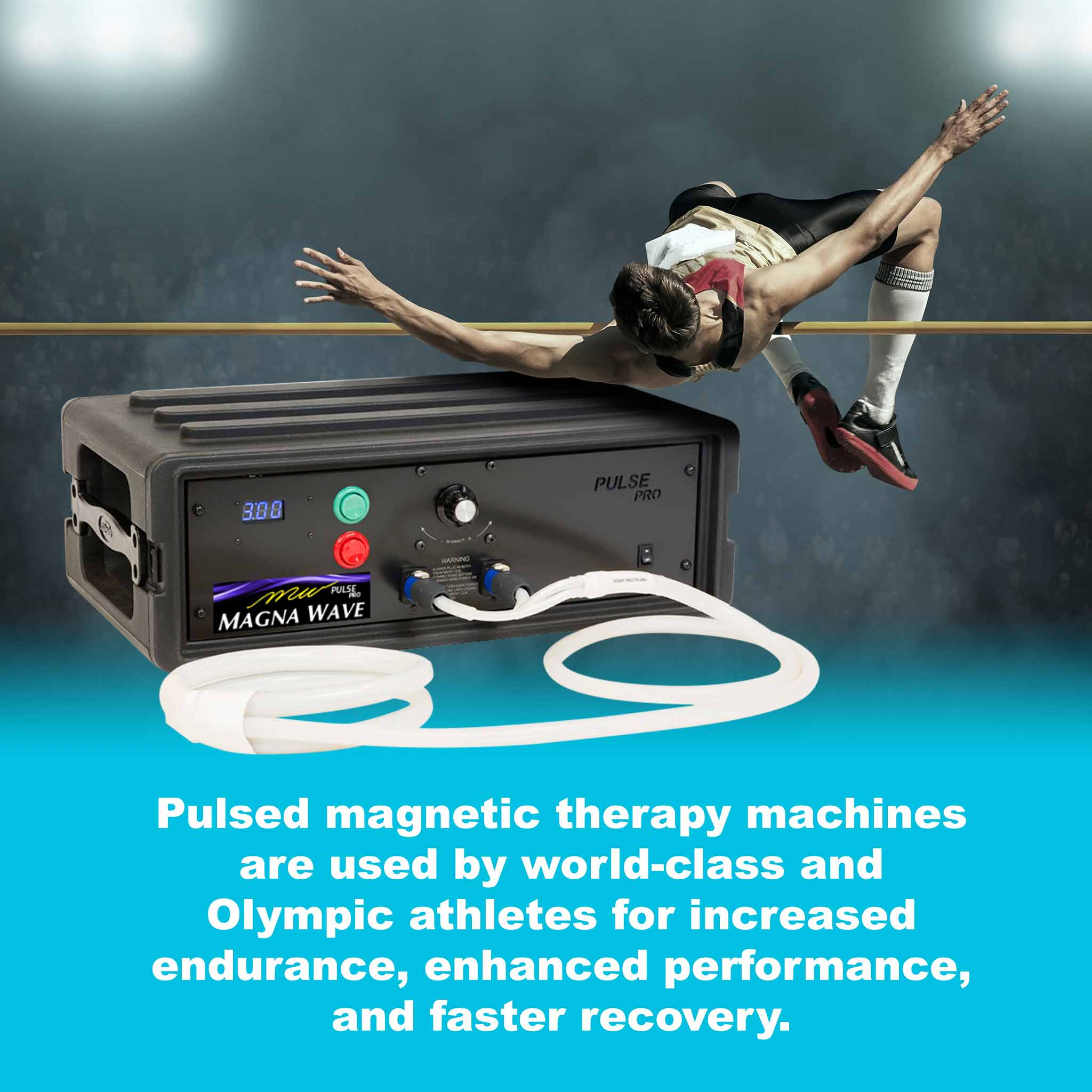 Pulsed magnetic therapy machines are used by world-class and Olympic athletes for increased endurance, enhanced performance, and faster recovery.