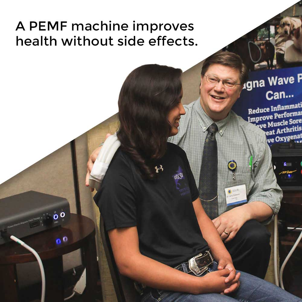 A PEMF machine improves health without side effects.