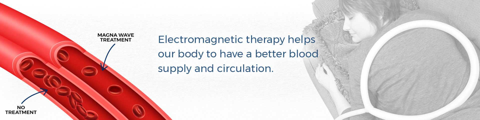 Electromagnetic therapy helps our body to have better blood supply and circulation.