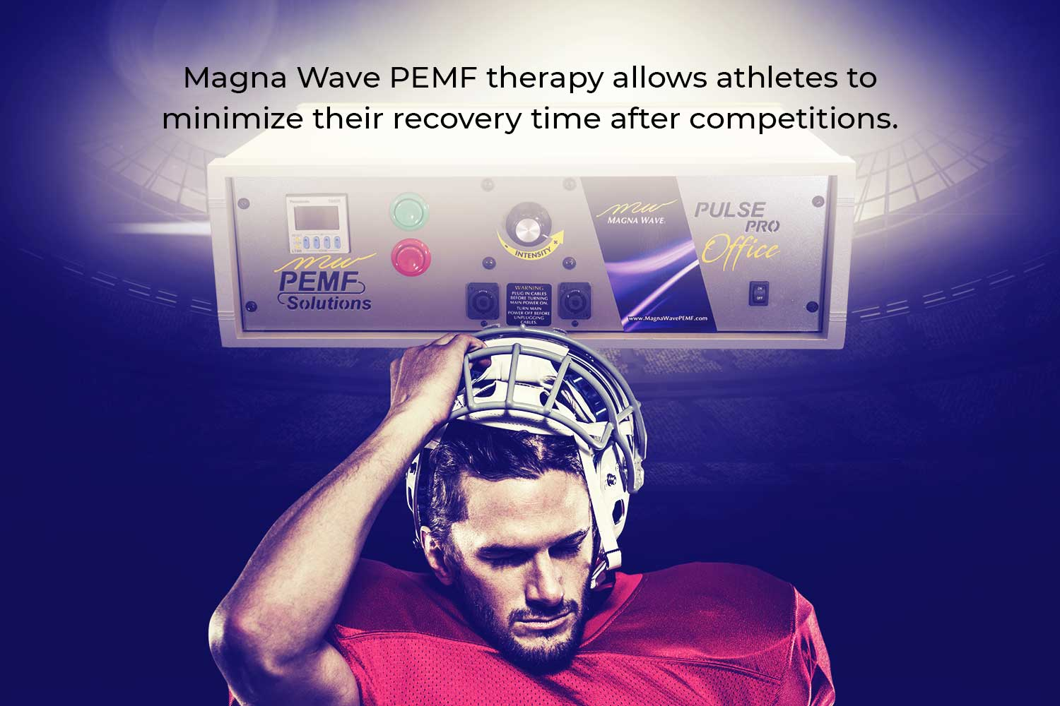 Magna Wave PEMF therapy allows athletes to minimize their recovery time after competitions.