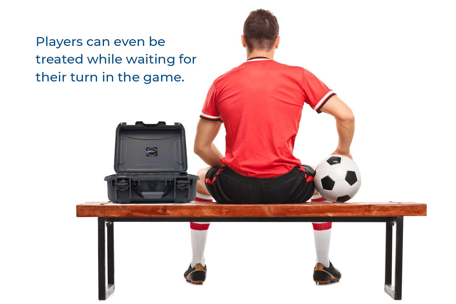 Players can even be treated while waiting for their turn in the game.