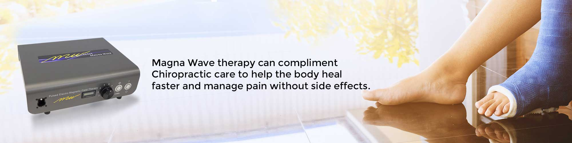 Magna Wave therapy can compliment Chiropractic care to help the body heal faster and manage pain without side effects.