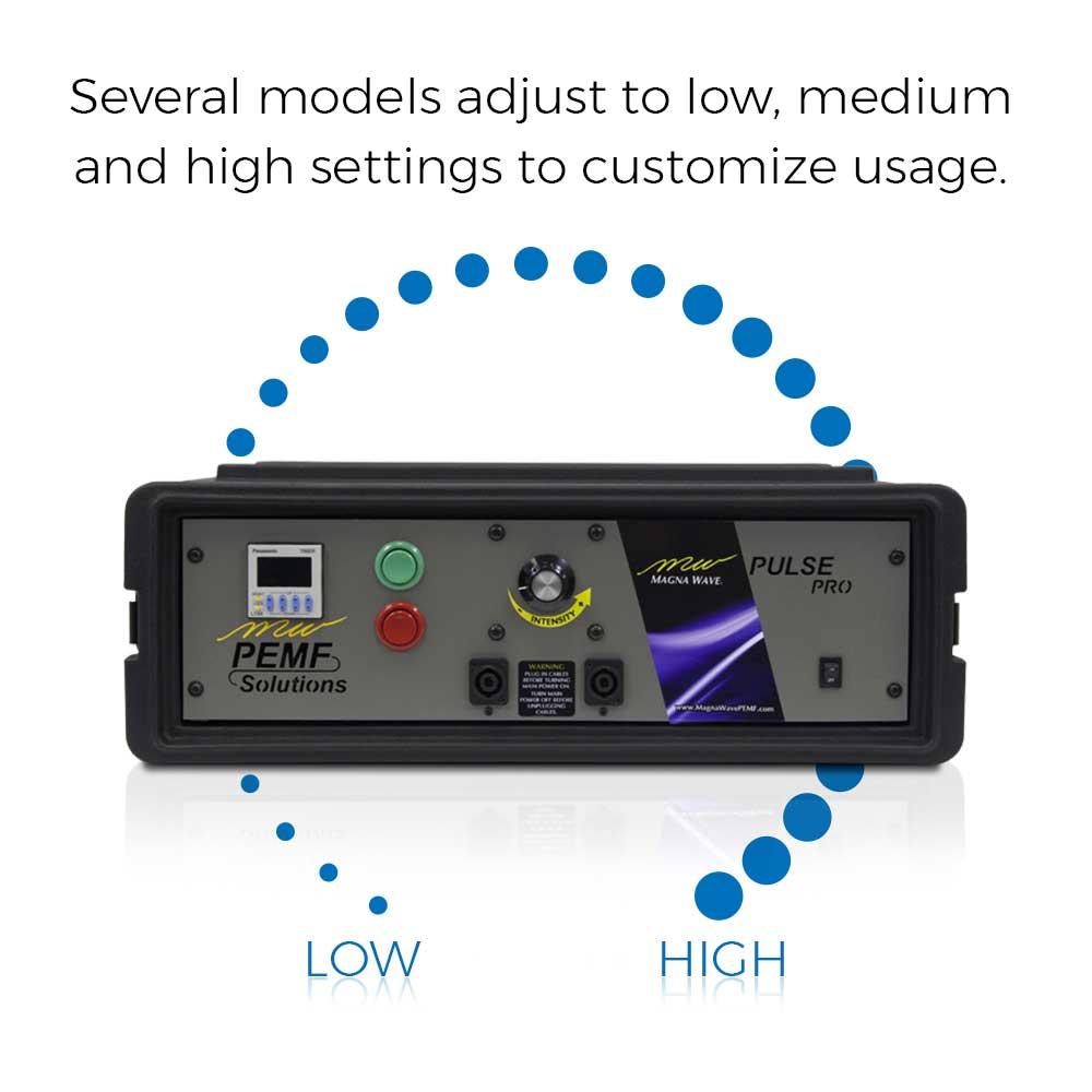 Several models adjust to low, medium and high settings to customize usage.