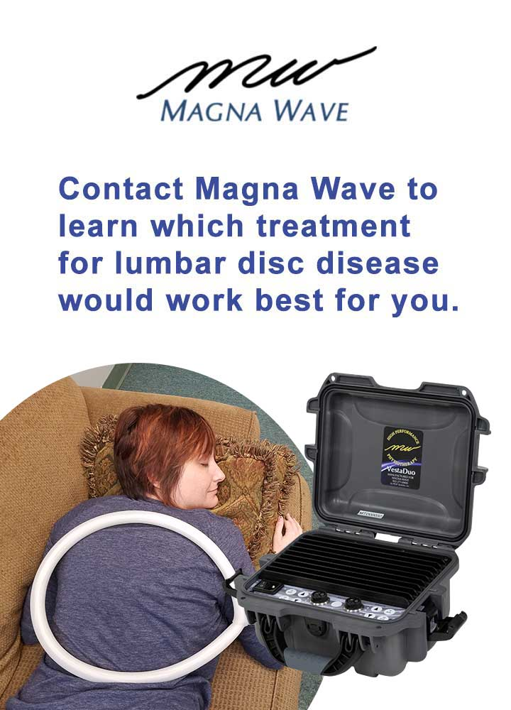 Contact Magna Wave to learn which treatment for lumbar disc disease would work best for you.