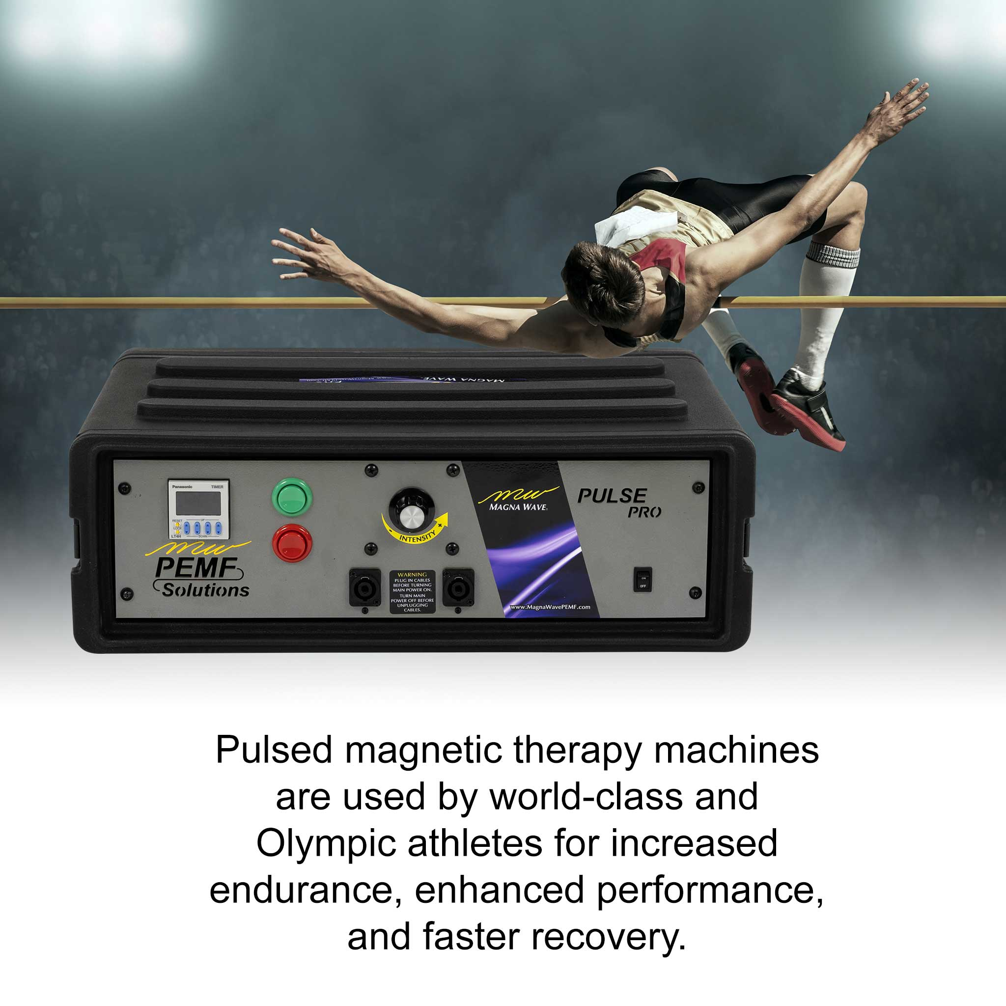 Pulsed magnetic therapy machines are used by world-class and Olympic athletes for increased endurace, enhanced performance, and faster recovery.