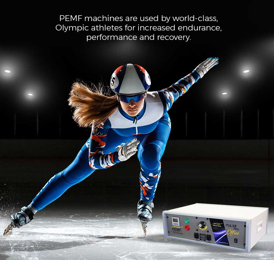 PEMF machines are used by world class Olympic athletes for increased endurance, performance and recovery.