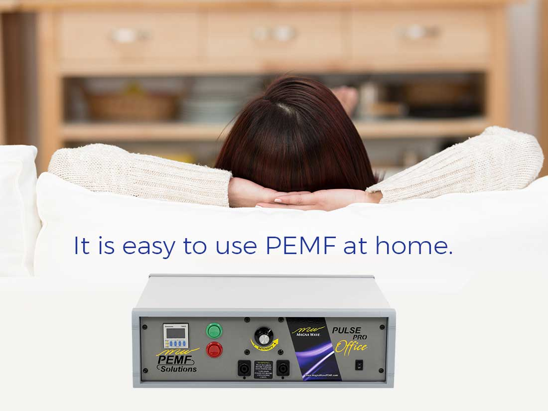 An easy to use PEMF machine for home use is the Magna Wave EZY System controller and blanket