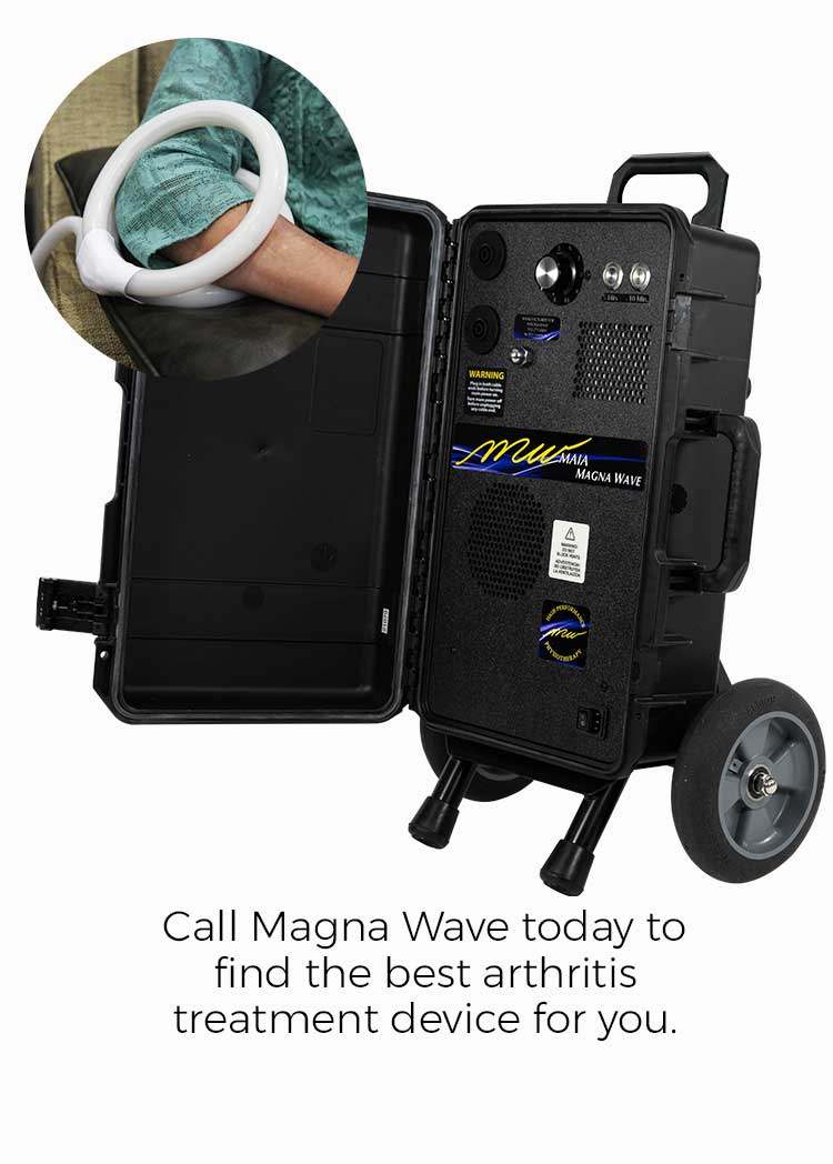 Call Magna Wave today to find the best arthritis treatment device for you.