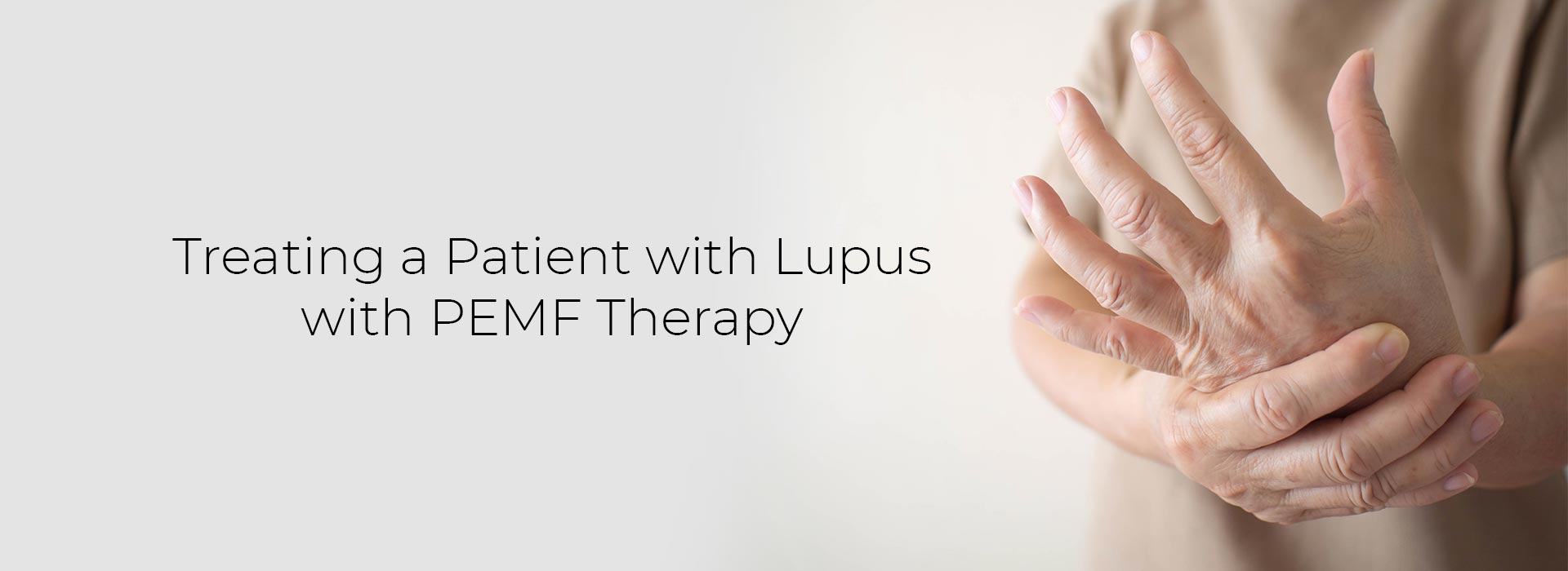 Treating a Patient with Lupus with PEMF Therapy